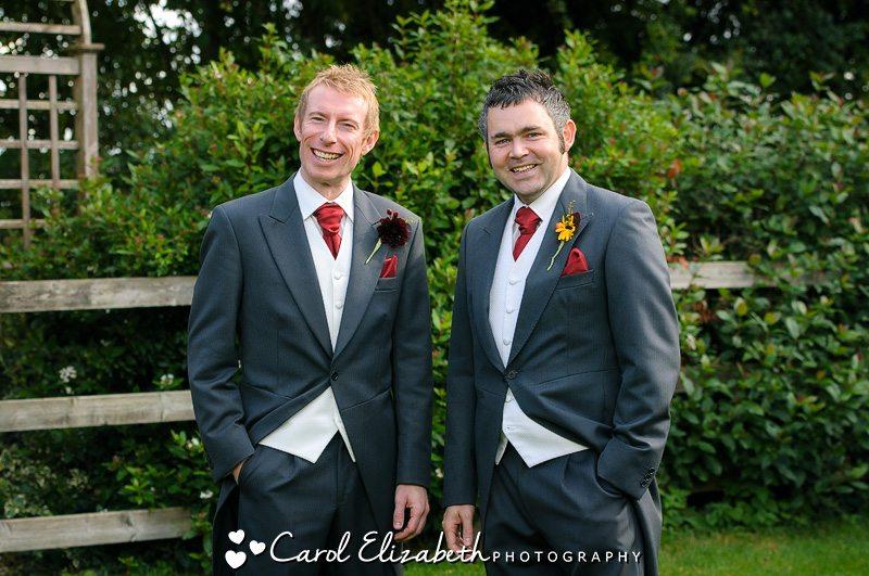 Groomsmen at Lains Barn wedding