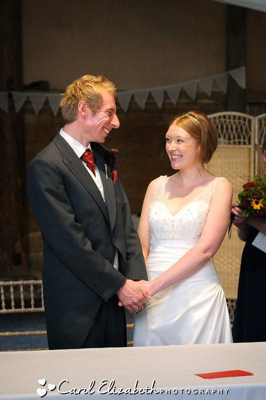 Professional wedding photography at Lains Barn