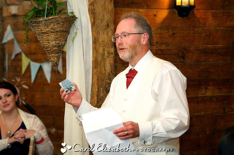Lains Barn autumn wedding