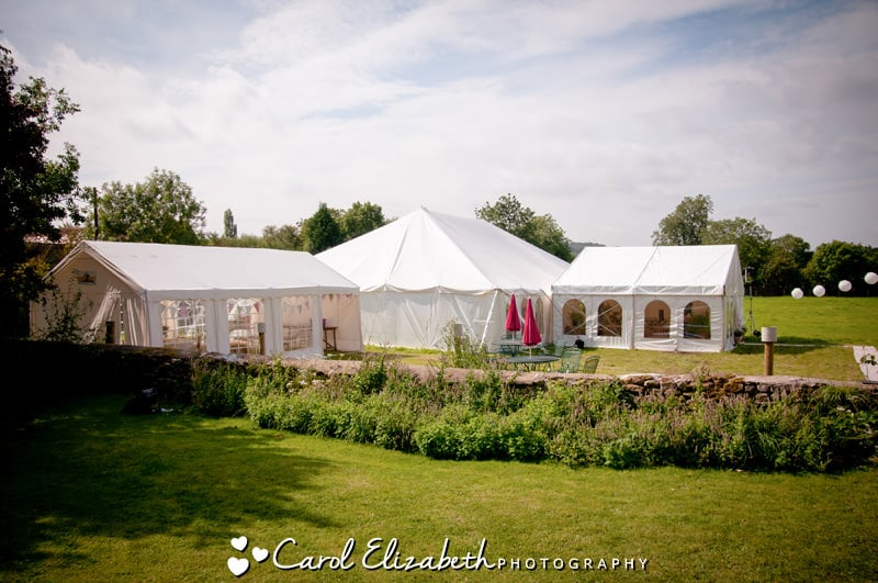 Wedding marquee in Oxfordshire