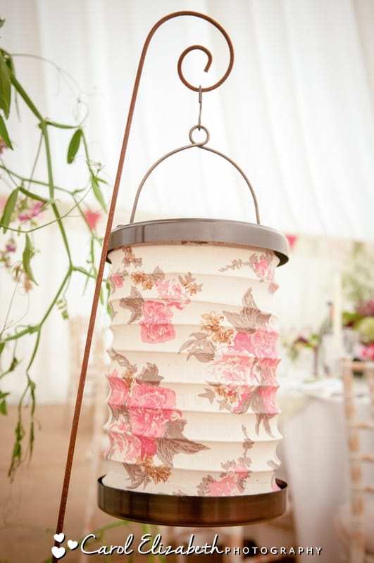 Informal marquee wedding decorations