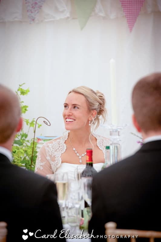 Relaxed wedding speeches