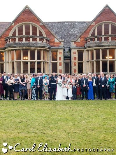 All guests at Audleys Wood wedding