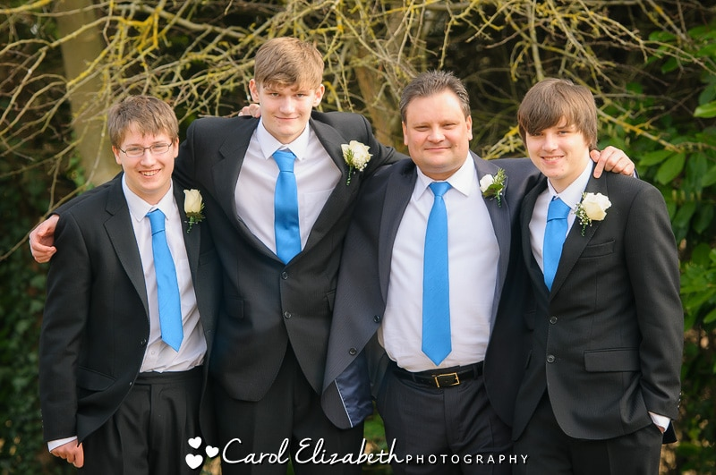 Groom with his sons