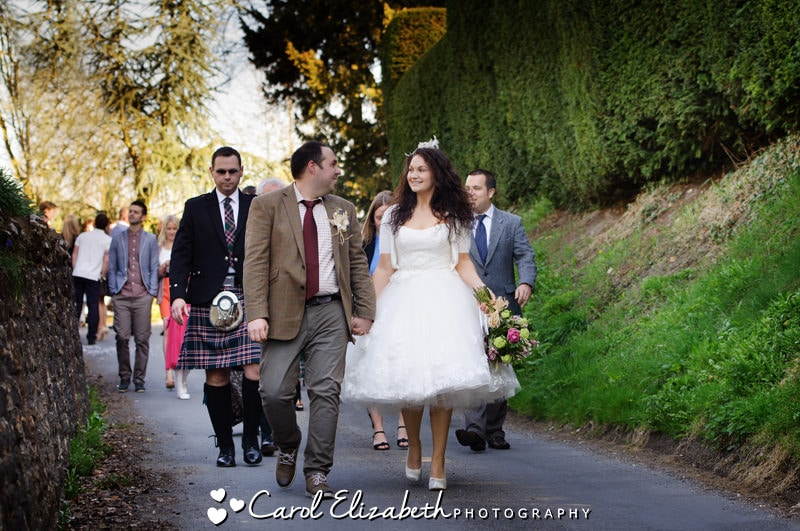 vintage wedding photography in oxfordshire