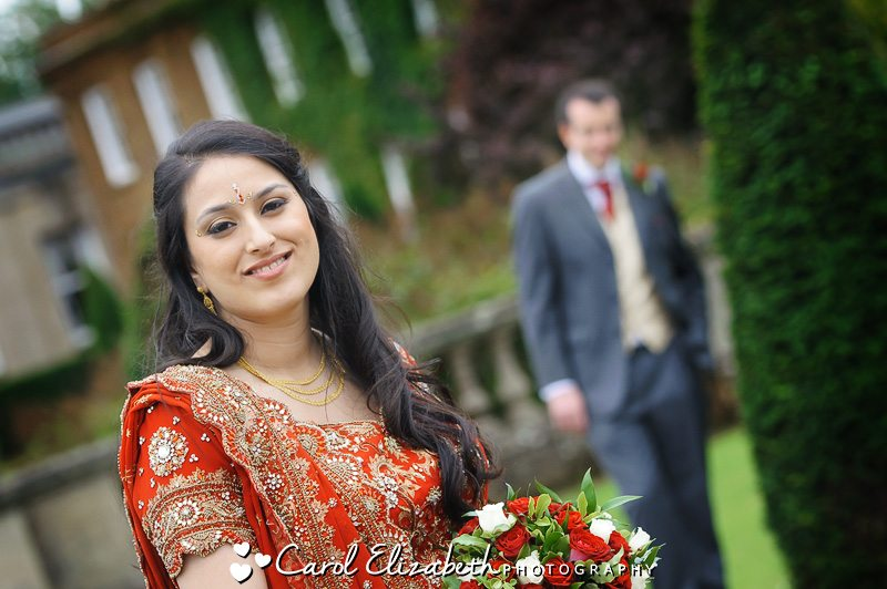 Bride and groom on their wedding day at Heythrop Park Hotel