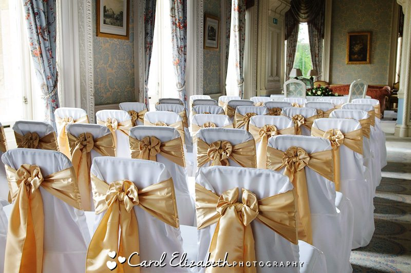 Ceremony Room by Professional wedding photographer at Heythrop Park weddings