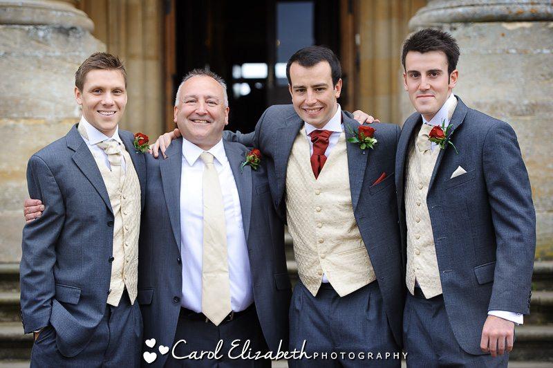 Heythrop Park Wedding photographer - groom and ushers