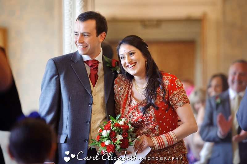 Candid photography of bride and groom