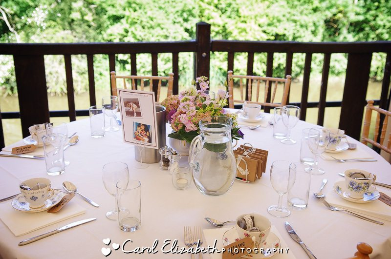 Table layout at Cherwell Boathouse
