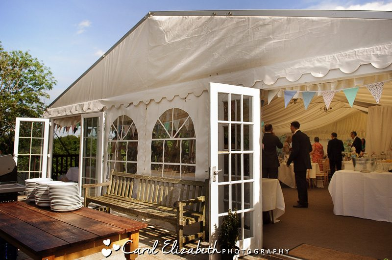 Wedding reception room at Cherwell Boathouse weddings