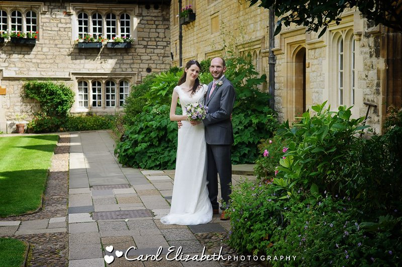 St Edmunds Hall wedding in Oxford - bride and groom