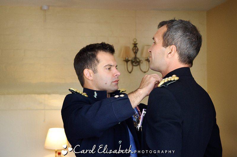Oxford military wedding preparations