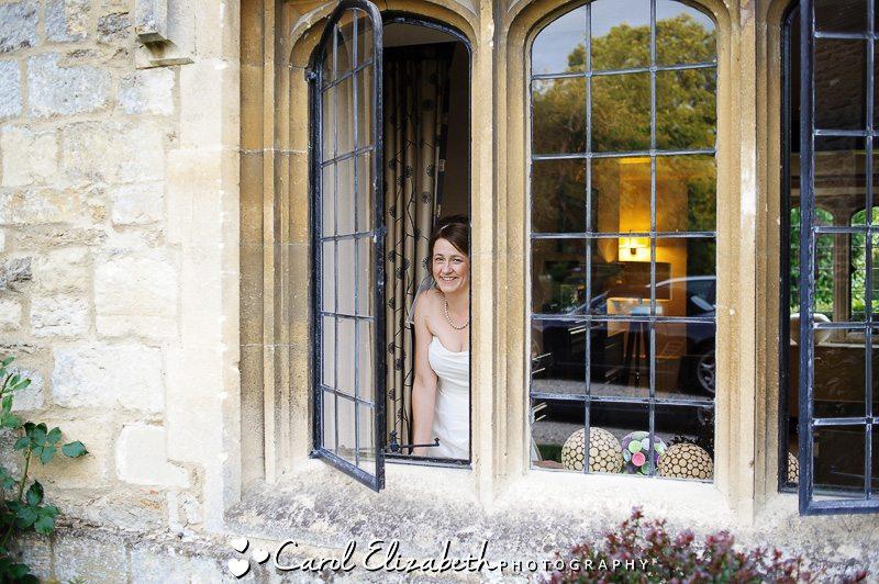 Bride at wedding - Oxfordshire wedding photographer