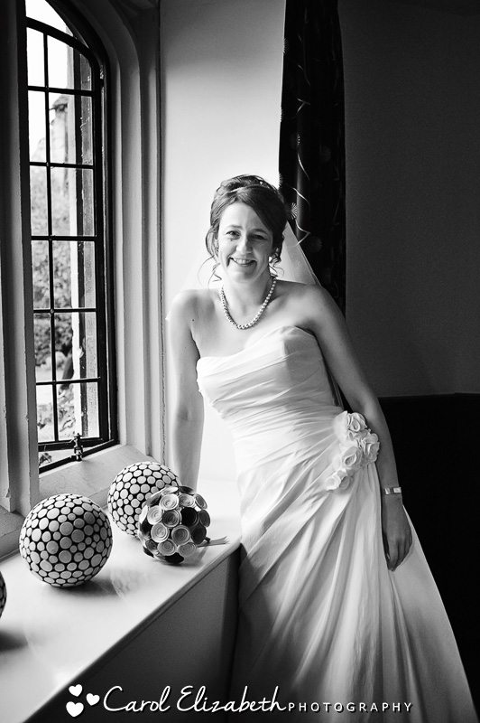 black and white bridal portrait oxford wedding