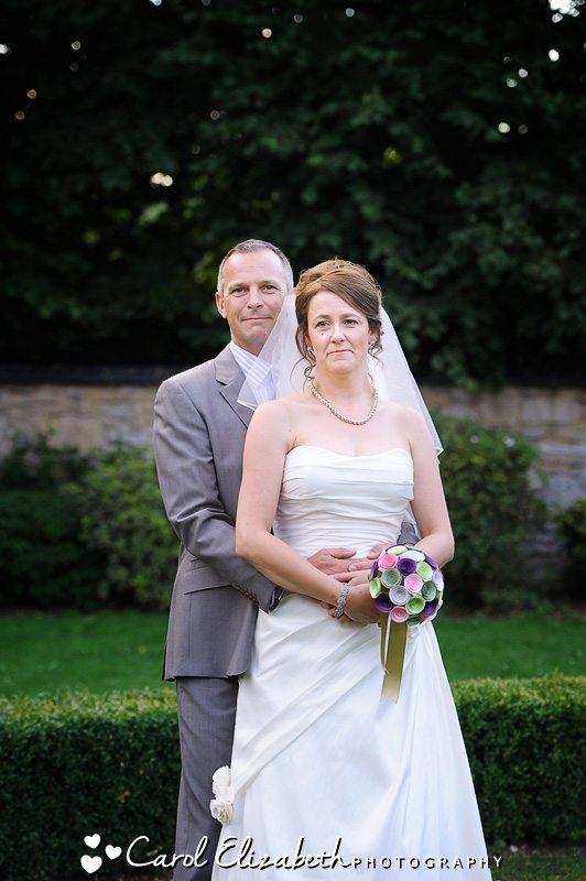 bride and groom portrait Oxford wedding