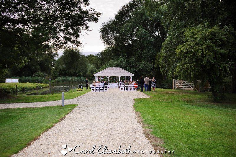 oxford wedding photography of venue four pillars gazebo