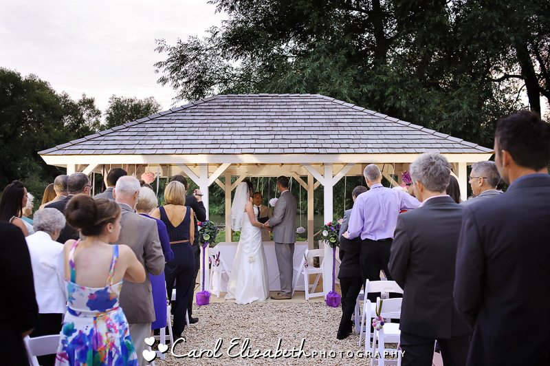 outdoor wedding ceremony at oxfordshire wedding