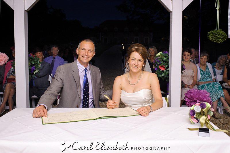 signing register - oxfordshire wedding photographer