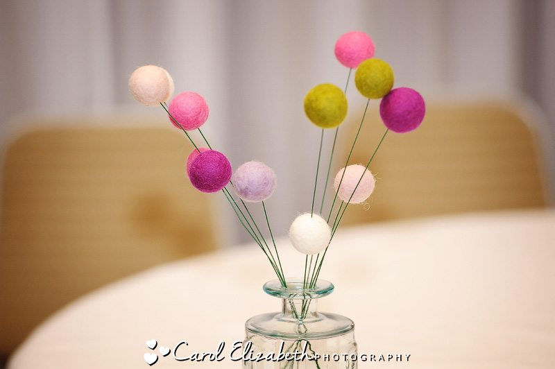 table decorations by wedding photographer in oxfordshire
