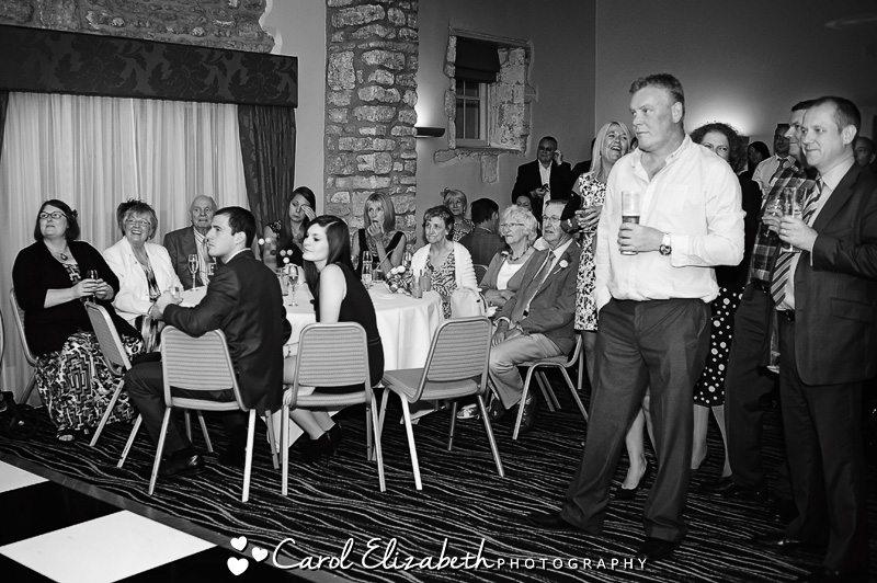 group photo at four pillars sandford wedding