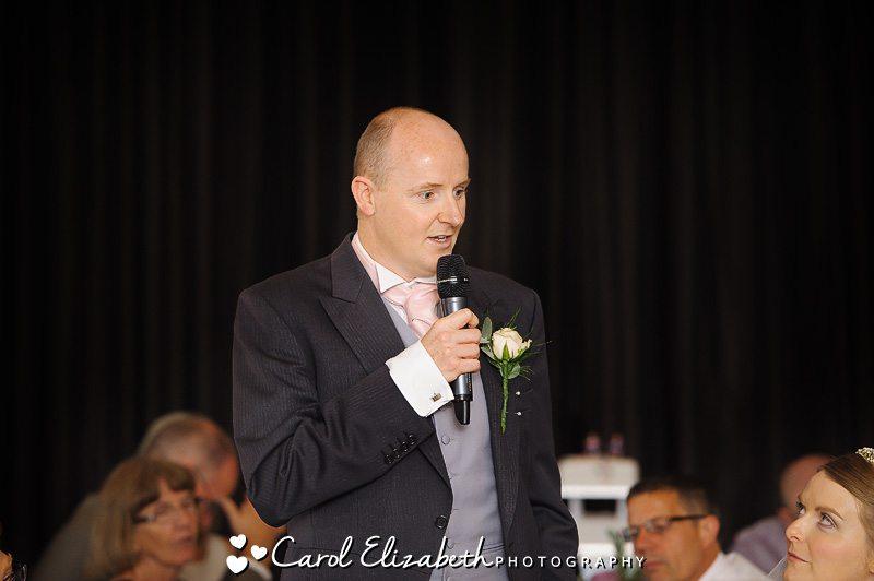 Groom speech at Milton Hill wedding