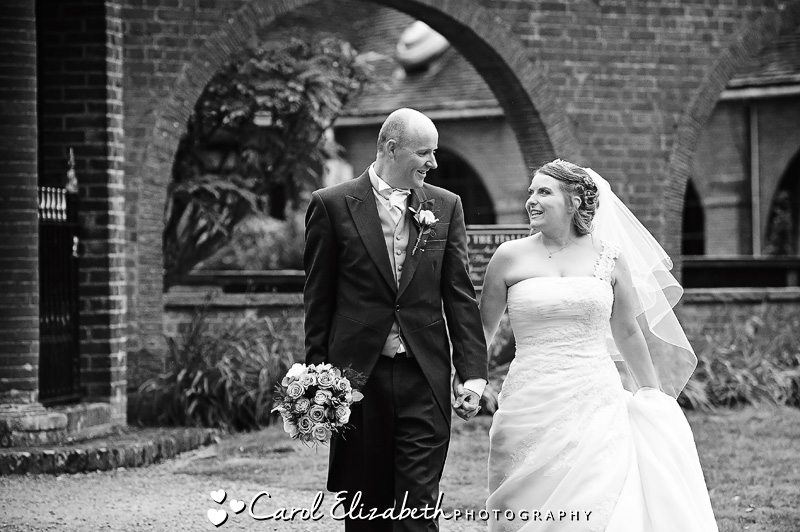 Black and white wedding photography in Oxford