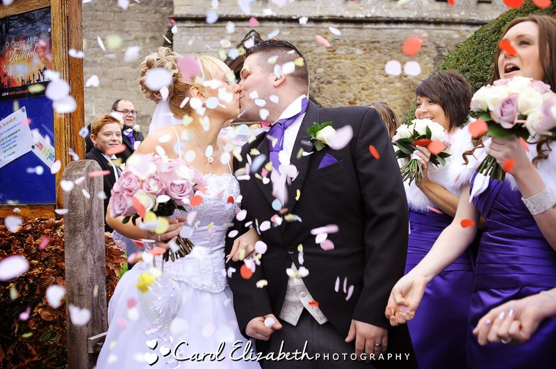 Confetti in Radley by Oxfordshire wedding photographer