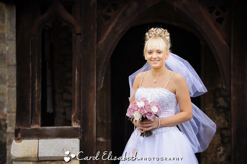 Beautiful bridal portrait at Radley Church wedding