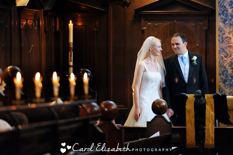 Wedding ceremony at Oxford College Wedding - Oriel College - Carol Elizabeth Photography
