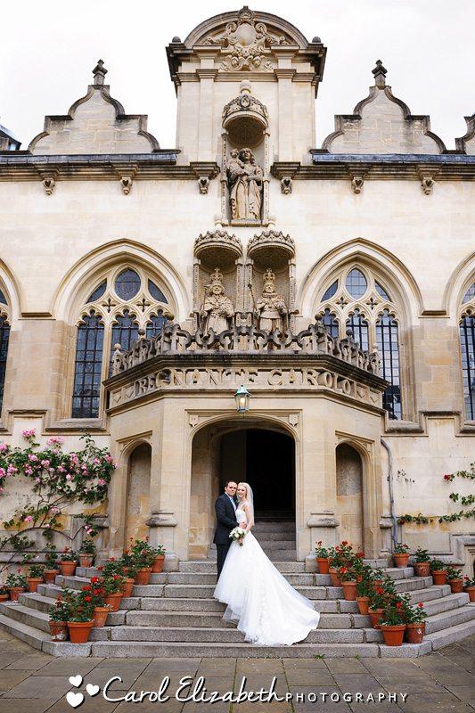Professional wedding photography at Oxford University wedding - Carol Elizabeth Photography