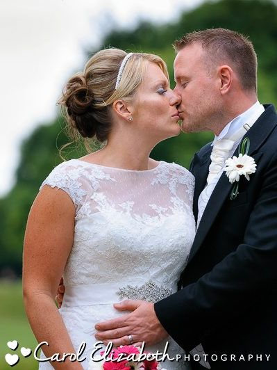Bride and groom portraits - kissing