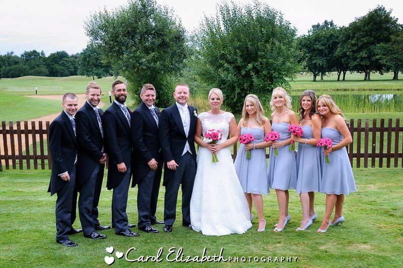 Wedding party at Bicester Golf Club