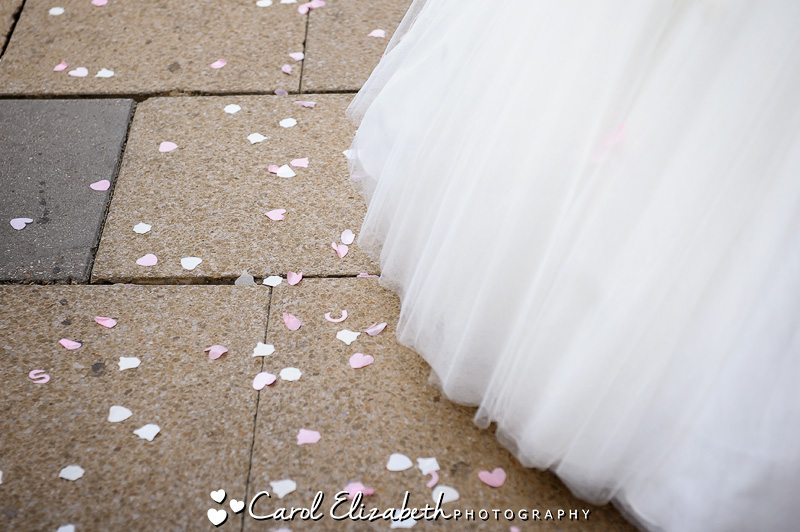 Oxford Town Hall Weddings - throwing confetti