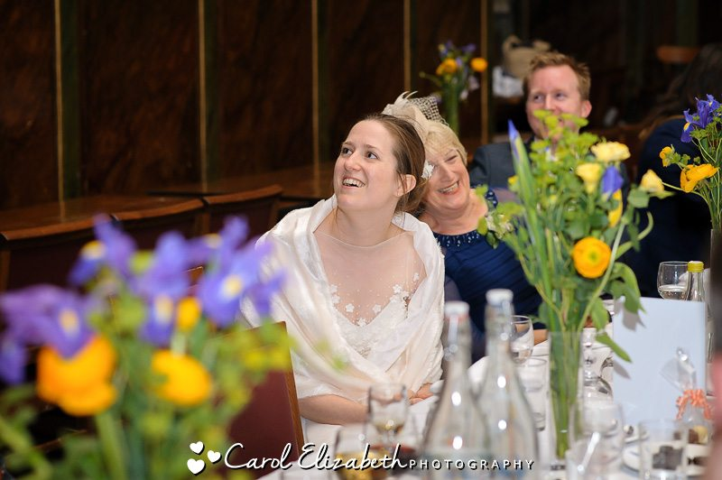 Wedding speeches during wedding at Trinity College - Carol Elizabeth Photography