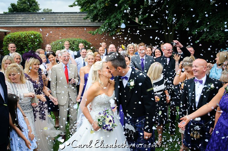 Confetti at Steventon House Hotel wedding
