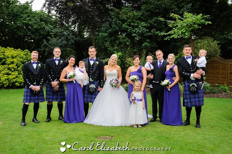 Group photos during Steventon House wedding
