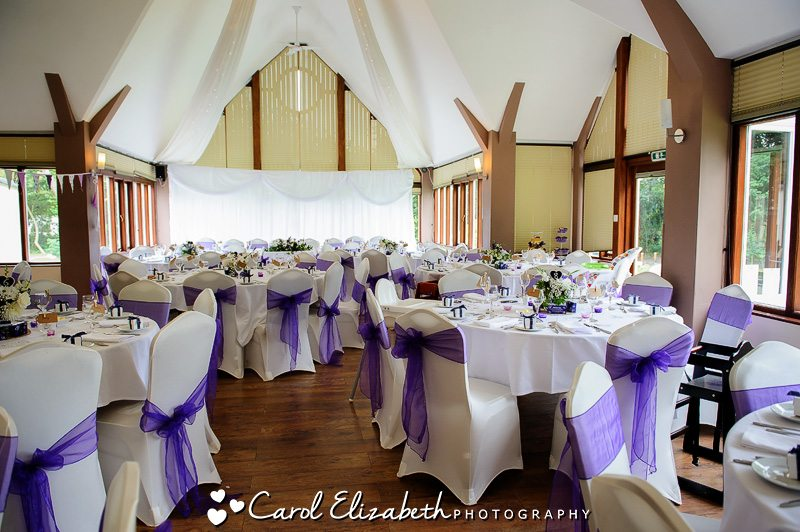 Wedding reception room at Steventon House