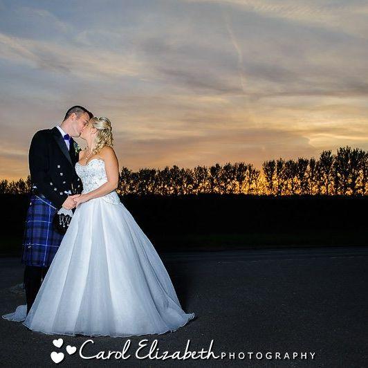 Sunset during Steventon House wedding