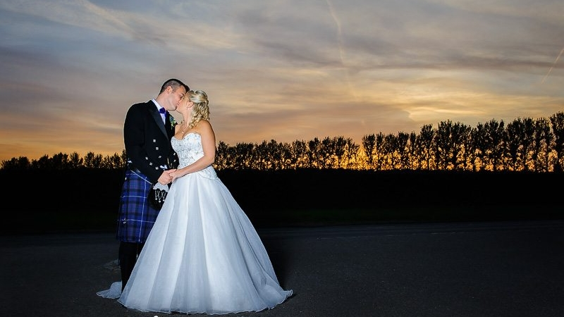 Sunset during Steventon House wedding