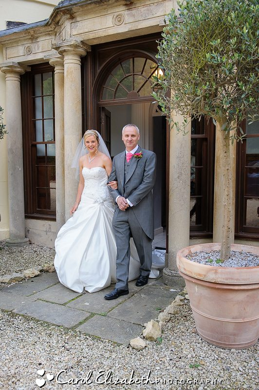 Professional wedding photographer at Sudbury House Hotel in Oxfordshire
