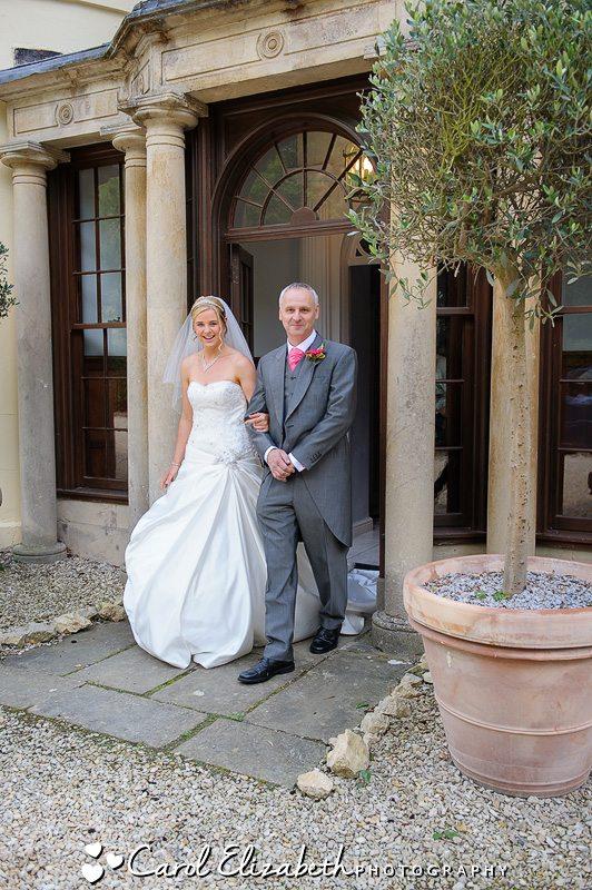 Professional wedding photographer at Sudbury House Hotel in Oxfordshire