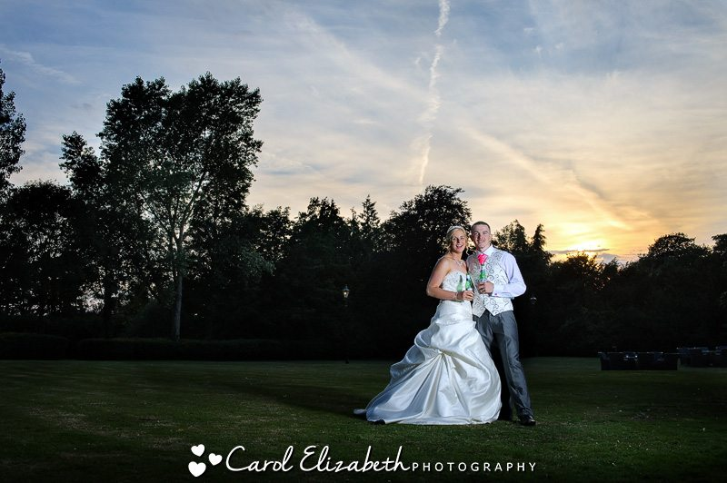 Evening Sunset photography at Sudbury House wedding