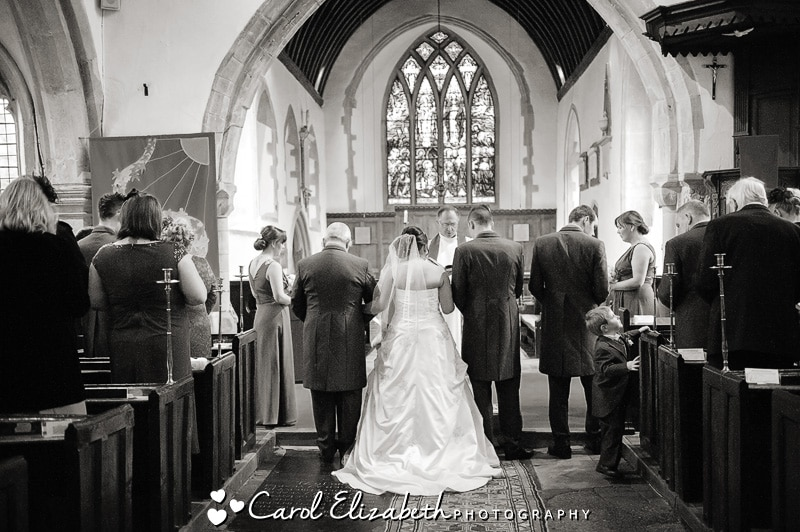 Black and white wedding photography in Oxfordshire