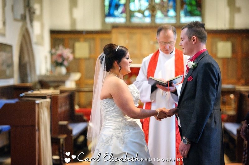 Wedding vows in church