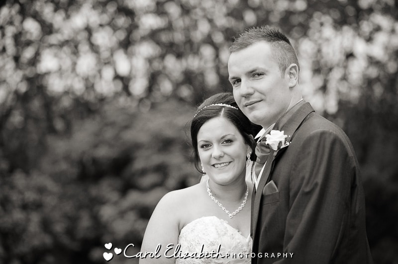 Black and white wedding photos in Oxfordshire