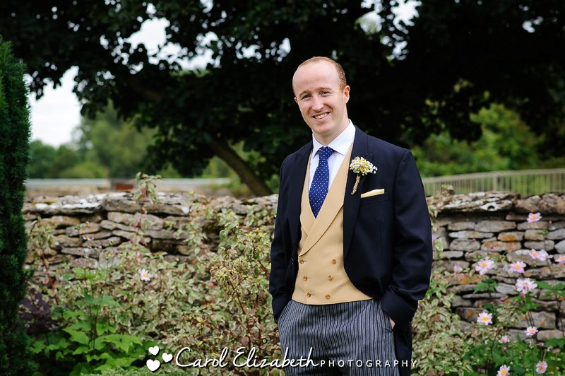 Groom at Caswell House wedding