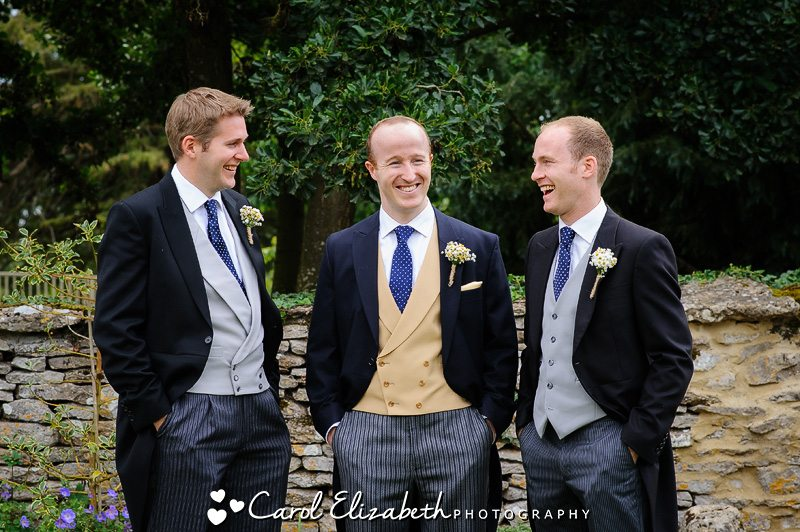 Caswell House wedding - ushers and groom