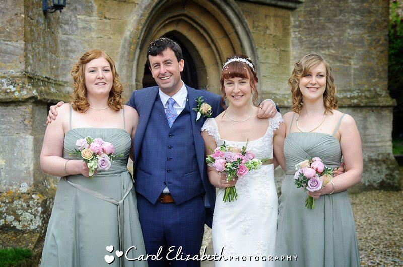 Wedding group photo of bridesmaids