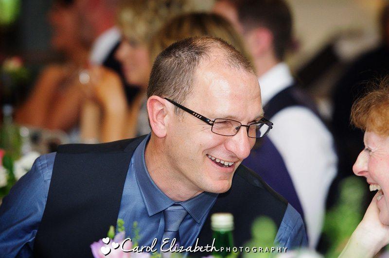 Informal photos of wedding guests